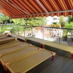 Terrasse-Freiluftschlaf